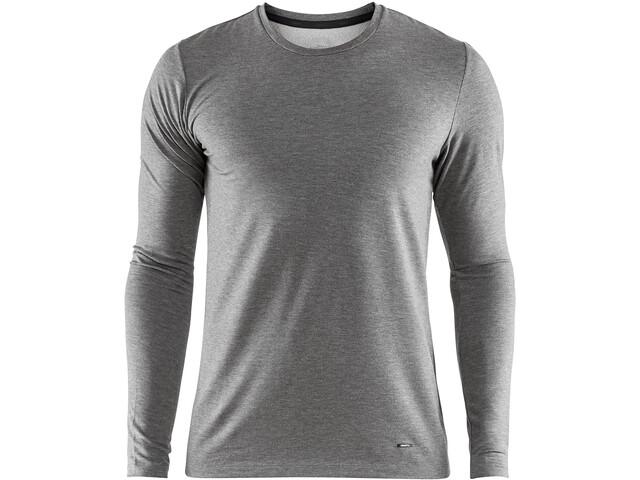 Craft Essential Warm Bluse Herrer, dk grey melange